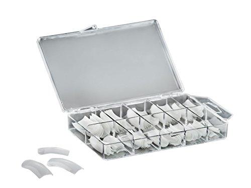 Profi Kunstnägel Natur Nagel Tips Set mit Box für Gelnägel und Acryl, 100er Pack