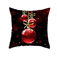 Ronshin Home Red Series Christmas Pillowcases Polyester Peach Skin Throw Pillow Case Sofa Cushion Cover Sofa Decor TPR223-14 45 * 45cm (without pillow)