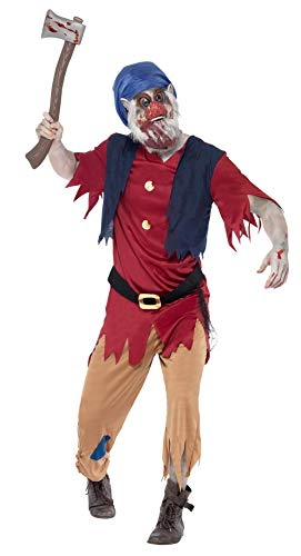 ie-Zwerg Kostüm, Oberteil mit angesetzter Weste, Hose und Maske, Größe: M, 40061 ()