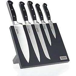 Ross Henery Professional Ensemble de Couteaux de Cuisine en Acier Inoxydable (Bloc magnétique)