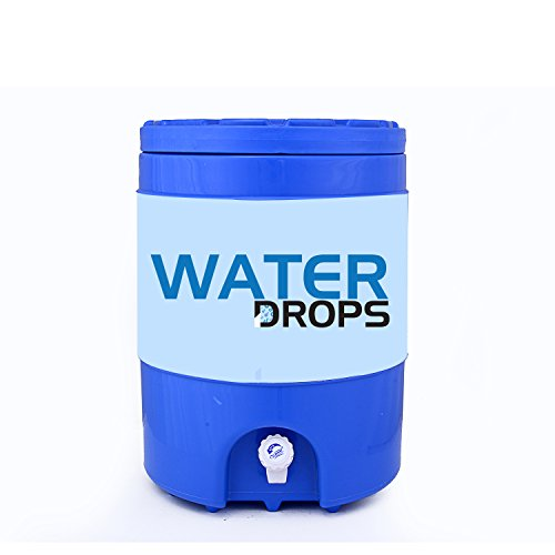 Water drops Water jug,Water Dispenser,Insulated Plastic jug,20 L (Blue)