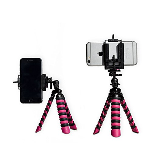 EXCLUSIVE iPhone Tripod with FREE Universal Phone Holder | STYLISH, PORTABLE & GREAT MINI PHONE STAND | 2 in 1: Works with ANY Compact Camera AND any Smartphone