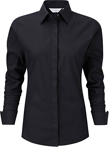 Russell Collection - Chemise femme stetch manches longues Russel Black