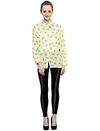 Printed Shirt With Shoulder Embellishment Shirt By I Am For You