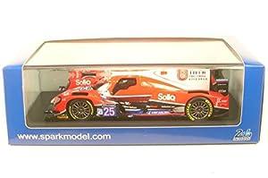 SPARK-Oreca-07Gibson LMP2-Le Mans 2017Coche de ferrocarril de Collection, S5812, Rojo Fluo/Negro/Blanco