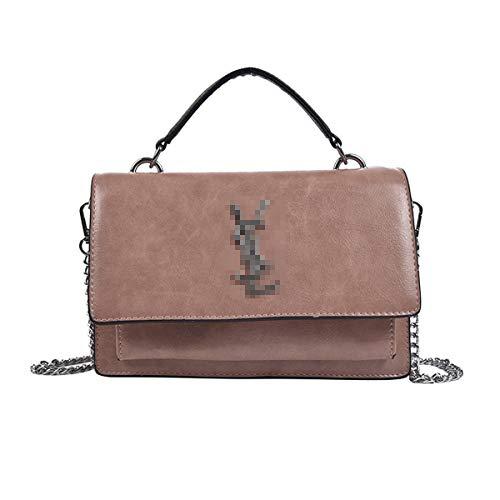 2019 Baby Kleine kette Gesteppte Umhängetasche Mini Cross Body Damen Handtasche Clutch Classic Abendtasche Wickeltaschen Henkeltaschen Rucksäcke Wickeltaschen mit Schnallen Rosa Leder, 22 * 6 * 15CM