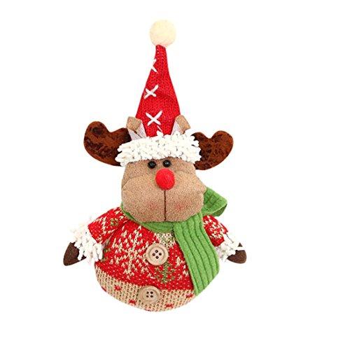 AMUSTER Weihnachten Deko Weihnachtsbaum Fenster Dekor Weihnachtsschmuck Geschenk Weihnachtsmann Schneemann Spielzeug Puppe hängen Dekorationen (C) -