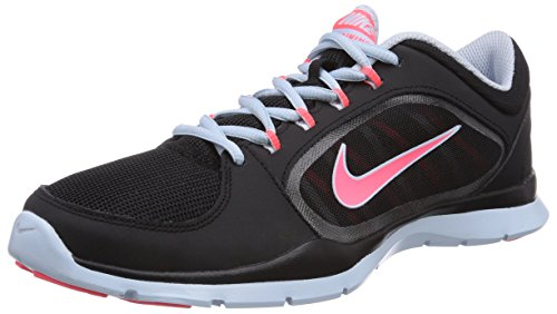Nike Flex Trainer 4 643083 Damen Laufschuhe Schwarz (Blk/Hypr Pnch-Antrctc-Antrctc)