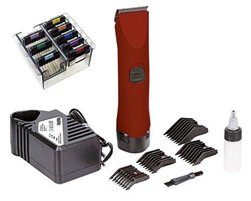 Professionale batteria hundeschermasc Hine incl. Batteria di Ricambio + Extra 8Acciaio Inox Set su. 35998
