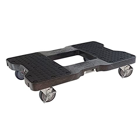 SNAP-LOC DOLLY BLACK (USA!) with 1500 lb Capacity, Steel Frame, 4 inch Casters and optional E-Strap