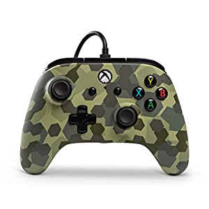 PowerA Wired Controller Officially Licensed by Microsoft Compatible with Xbox One, Xbox One S, Xbox One X & Windows 10 - Deep Jungle Camo