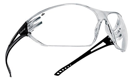 Boll? Safety 253-SL-40080 Slam Safety Eyewear with Matte Black Rimless Frame and Clear Anti-Scratch/Anti-Fog Lens by Boll? Safety - Protective Matte