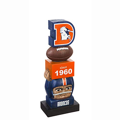 Denver Broncos Vintage NFL Tiki Totem Statue ()