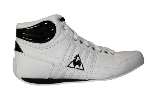 Le Coq Sportif Escrimilla mid leather w 1021434, Baskets Mode Femme Blanc et noir
