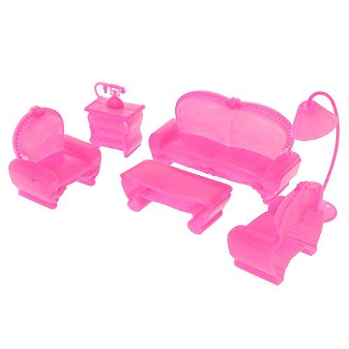 MagiDeal 6Pcs Mini Puppenmöbel Möbel Set für Barbie Kelly Puppenhaus Zubehör Kinder Spielzeug Spielwaren (Kelly Puppenhaus)