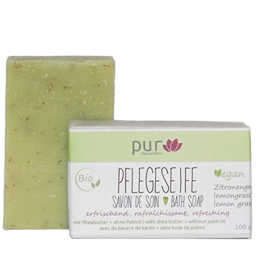 Manufaktur Pur Bio Natur-Olivenölseife Lemongrass Zitronengras 100 g
