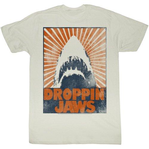 Jaws - Herren Show Stopper T-Shirt in Altweiß Vintage White