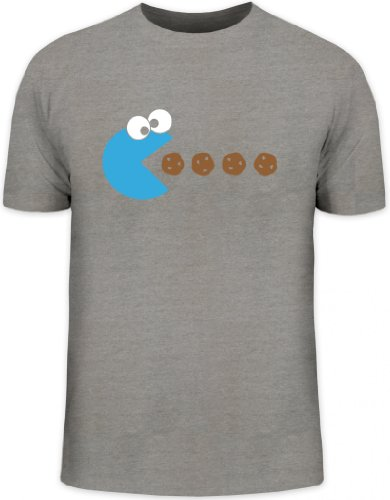 Shirtstreet24, BLUE MONSTER, Herren T-Shirt Fun Shirt Funshirt, Größe: (Cookie Monster Shirt T)