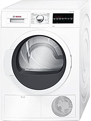 Bosch Serie 6 WTG86260EE Independiente Carga frontal 8kg B Color blanco - Secadora (Independiente, Carga frontal, Condensación, B, Color blanco, B)