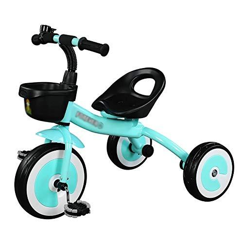 XHSLC Trikes Kinder Dreirad 2-3-5 Jahre Alt Kinderwagen Kinder Leichte Kind Spielzeugauto Vorschule Fahrrad (Farbe: Grün)