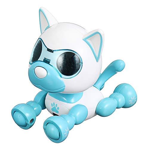 KINGDUO Intelligenter Smart Mini Puppy Robot Dog Sound Record Puppy Spielzeug Geburtstagskollektion-Blau