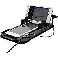 Car Holder 2in 1Cavo di ricarica in silicone universale telefono supporto da auto Cradle Stand di Ricarica per iPhone, Samsung, Cradle Dock per GPS magnetica adsorbimento supporto