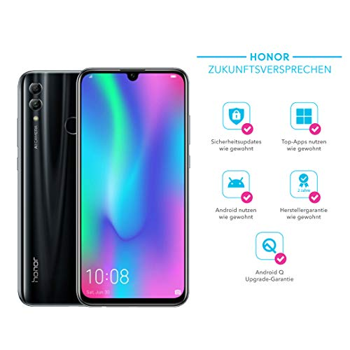 Honor 10 Lite 64 GB Smartphone BUNDLE mit 24MP AI Selfie Kamera (6,21 Zoll),Dual-Kamera, Dual-SIM, Android 9.0) Midnight Black + gratis Protective Cover [Exklusiv bei Amazon] - Deutsche Version