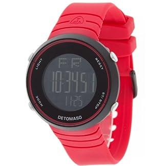 Detomaso Nico Red Digital Silikon DT2002-C DT2002-C – Reloj Digital de Cuarzo Unisex, Correa de Silicona Color Rojo (cronómetro, luz, Alarma)