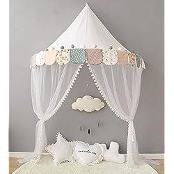 Nordic Ideas Ciel de Lit avec Moustiquaire Bebe Fille Garcon Coton Tente de Lit Cadeau Moustiquaire Decoration Chambre Enfant NTE005
