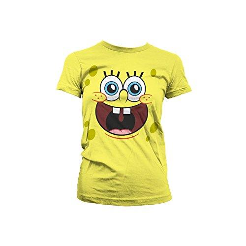 Officially Licensed Merchandise Sponge Happy Face Girly T-Shirt, Medium