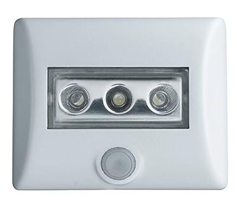OSRAM LED-Lampe / Nightlux / weiß / batteriebetrieben / integrierter Bewegungsmelder / Dämmerungssensor / IP54 / Tageslicht - 7000K