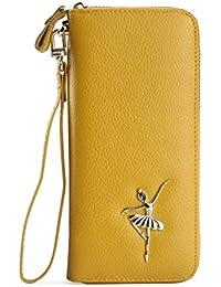 LZY Embrague- Clutch de Gran Capacidad con Cremallera Rectangular para Mujer (Color : Amarillo