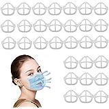 3D Maskerbeugel voor Comfortabele Ademhaling, 30 STKS Cool Siliconen Wasbaar Herbruikbare Lippenstift Bescherming Interne Ond