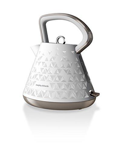 Morphy Richards Wasserkocher Prism weiß 108102, Kunststoff, Pyramide
