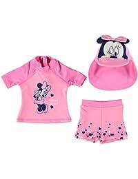 Disney Kinder Baby Bademode Set Oberteil Top Badehose Shorts Bademuetze Kappe
