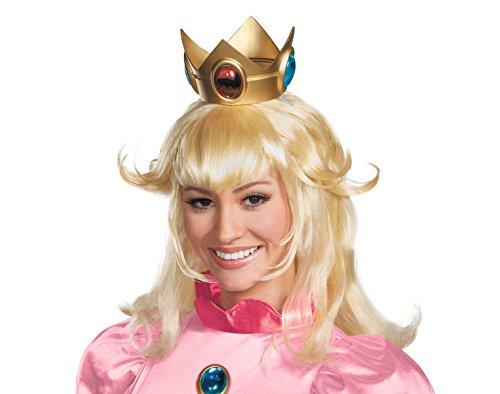 ücke Super Mario Bros Kostüm Zubehör Erwachsene Damen Blond ()