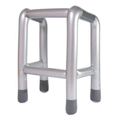 Moocow, marco inflable Zimmer, plata / gris