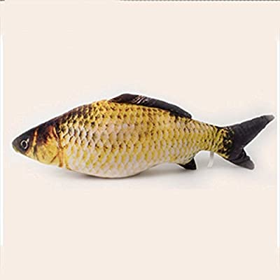 Visork Realistic Cat Toy Simulation Fish Pet Toy Fish Shape Toy Filled Fish Interactive Chew Plush Toys For Cat