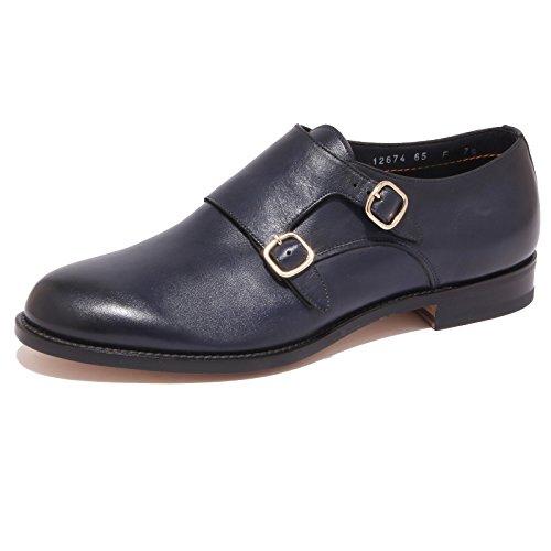 1091Q scarpa uomo SANTONI blu shoe men [8]