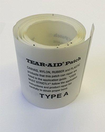 Tear Aid Selbstklebender Reparatur-Flicken Typ A für Zelte, Drachen, Gummiboote, Segel, Stoffe, 75mm x 300mm -