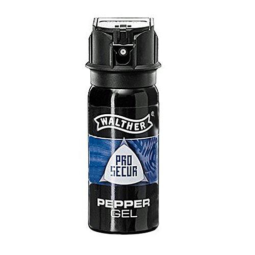 Walther Pfefferspray Abwehrsprays ProSecur Pepper Gel 50 ml-ballistischer Strahl, mehrfarbig,