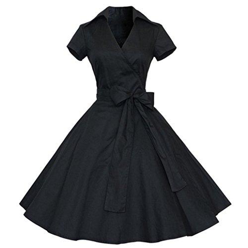 dc75bfda750 Rétro Vintage Robe Années 50  s Style Audrey Hepburn Rockabilly  Swing