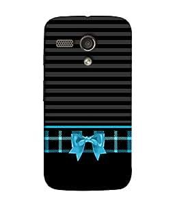 FUSON Designer Back Case Cover for Motorola Moto G :: Motorola Moto G (1st Gen) :: Motorola Moto G Dual (Seamless Pattern Blue Design Drawing )