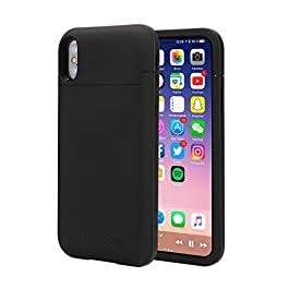 iphone X Battery Case, 5200mAh Rechargeable Portable Protective Battery Charging Case External Battery Pack Power Case with Lightning Port ¡ ¡ …