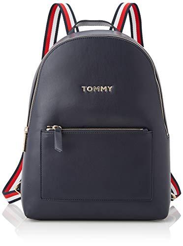 Tommy Hilfiger Damen Iconic Tommy Backpack Umhängetasche, Blau (Sky Captain), 36x26x12cm