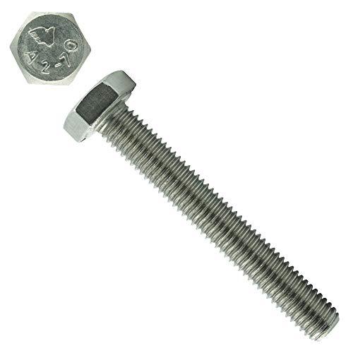 Eisenwaren2000 | Sechskantschrauben mit Gewinde bis Kopf M12 x 100 mm (10 Stück) - DIN 933 - ISO 4017 Sechskant Schrauben - Gewindeschrauben - Vollgewinde - Edelstahl A2 V2A - rostfrei