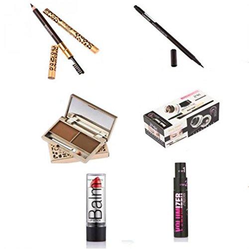 1 Kit Cosmétiques de Maquillage Multi-usage Sourcil et Brosse Cils Mascara Sourcil Poudre Crayon eye-liner Rouge à Lèvres