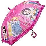 FUNSTERS Kid's Polyester Girls/Princess Character Print Umbrella Of Medium Size (T3O-FUN-64, Multicolour)