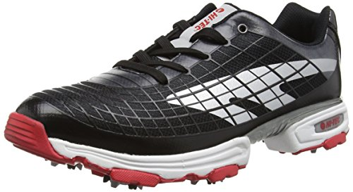 Hi-Tec Ht Hybrid Flow, Men  Golf Shoes, Black (Black/Silver/Red 021), 8 UK (42 EU)