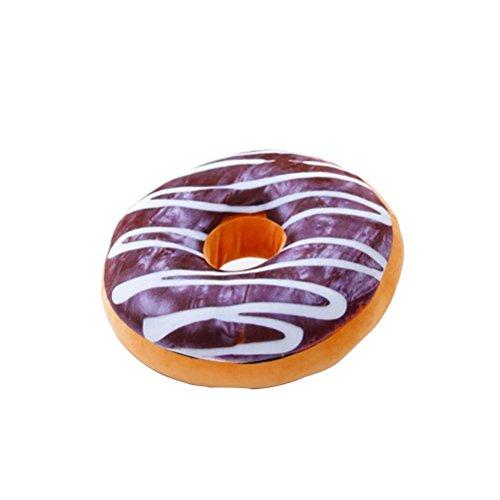 BESTOMZ Plüsch Donut Kissen, Kuschelkissen extra dick und extra flauschig